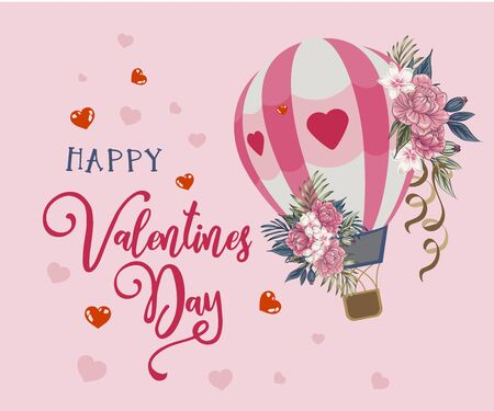 Set of Valentines day greeting cards with handwritten greeting letters and decorative textured brush strokes on the background. Happy valentines day, love you words