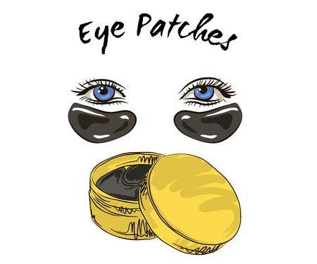 Vektor-Patch-Eye-Symbol auf weißem Hintergrund. Flache Vektoraugenklappe Symbol Zeichensymbol aus der modernen Beauty-Kollektion für mobiles Konzept und Webanwendungsdesign. Vektorgrafik