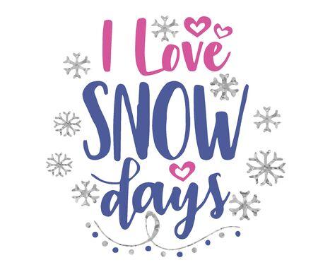 Новогодние открытки с золотом, I Love Snow Days Зима, пусть идет снег, люблю зиму. Открытки Векторный дизайн иллюстрация.