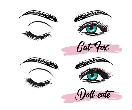 Eyelash Extension Guide. Tips and tricks for eyelash extensions. Infographic vector illustration. Right and wrong fastening. Training poster
