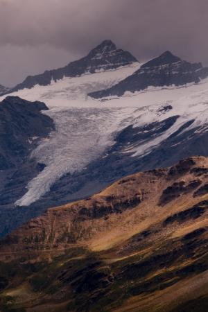 crack climbing: View from mount Elbrus, the Caucasus, Russia