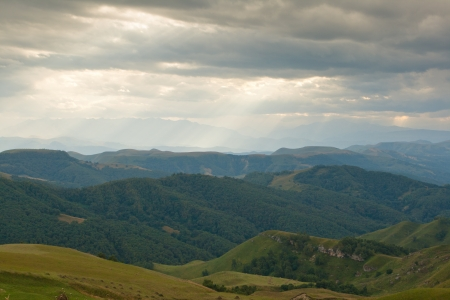 Caucasus Russia, landscape, on the road to Mount Elbrus Stock Photo - 18438005
