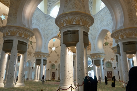 Sheikh Zayed Mosque - one of the six largest mosques in the world. Located in Abu Dhabi