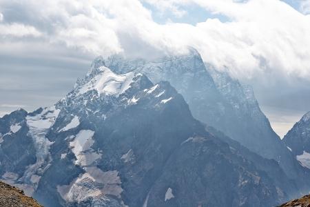 dombai: View of Mount Dombai, Caucasus, Russia, summer