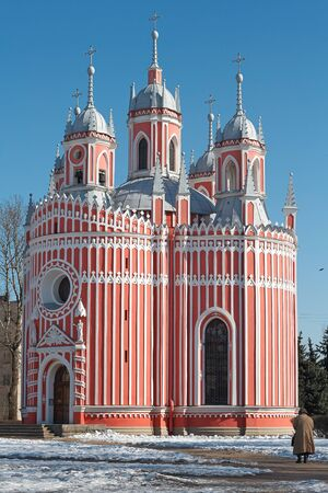 The church and Chesme Palace were the earliest Neo-Gothic constructions in the St Petersburg area, Russia
