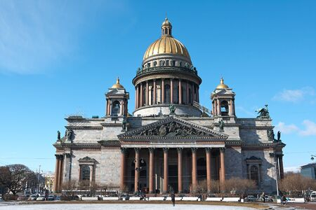 Saint Isaac's Cathedral in St. Petersburg, Russia photo