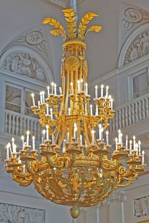St. Petersburg, Russia - March 21: The State Hermitage, is a museum of art and culture in Saint Petersburg, Russia. 21, 2009. Chandelier hermitage.