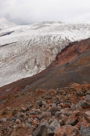 View from Mount Elbrus in the rise photo