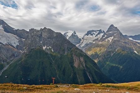 dombai: Mountain lift dombai, Russian, Caucasus