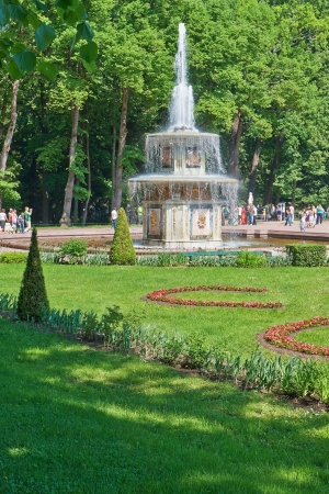 The fountains of Peterhof are one of Russias most famous tourist attractions  photo