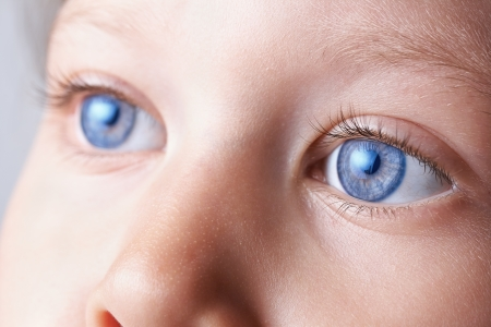 macro eyes of a child