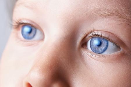 close up eyes: macro eyes of a child