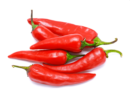 Red chili pepper on a white background