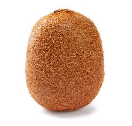 Slice of fresh kiwi fruit isolated on white background Stock Photo
