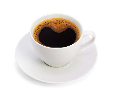 Cup of coffee, on white background, isolated photo