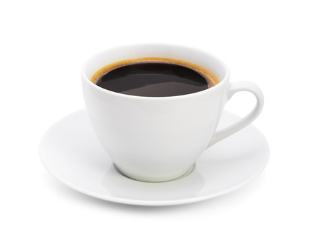 Cup of coffee, on white background, isolated Stock Photo