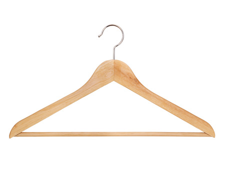 One hanger on a white background, isolated Stock Photo