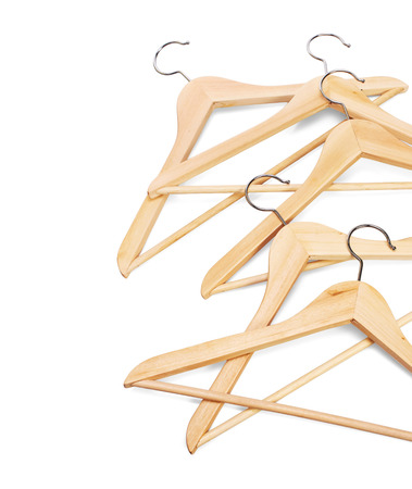 Hangers on a white background, isolated