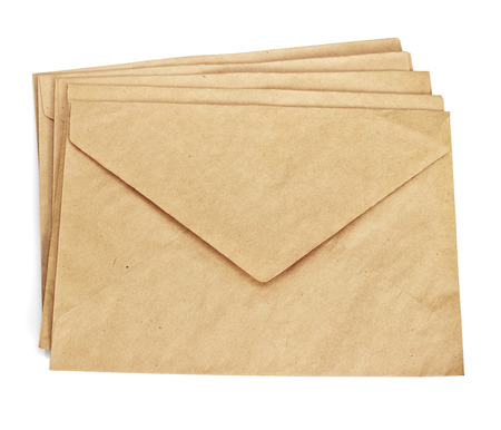 old envelope: old envelope isolated on a white background