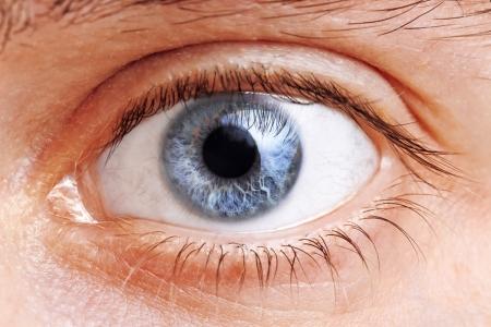 Close Up Of A Man Eyes, macro