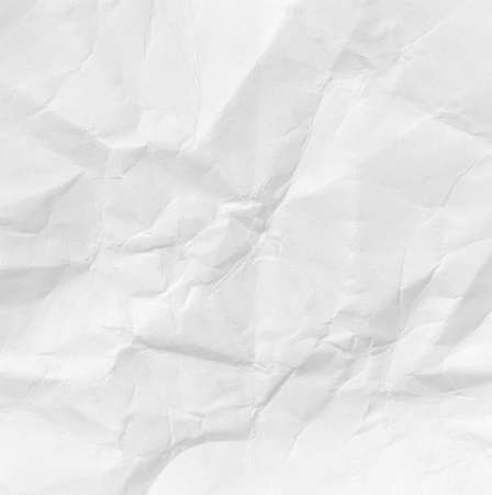 white crumpled paper texture for background, macro photo