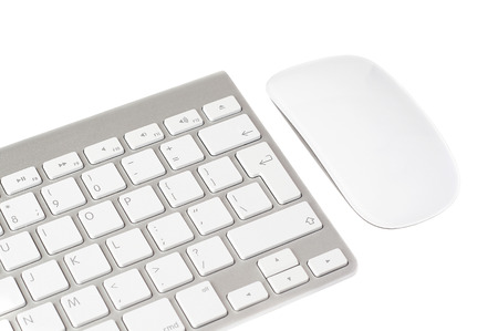 Keyboard and Mouse on a white background