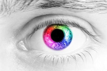 Close Up Of A Man Eyes, macro photo