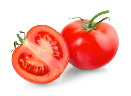 Tomatoes on white background, closeup, isolated Stock Photo