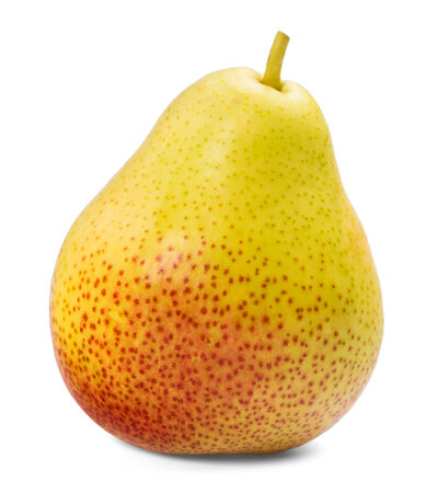 Pear on a white background, isolated, close-up photo