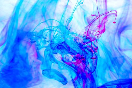 물 추상 잉크 근접 촬영 모양
