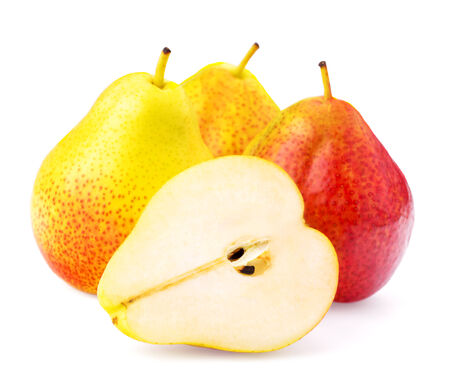 williams: Pear on a white background, isolated, close-up