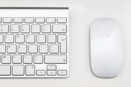 internet keyboard: Workplace with keyboard and mouse