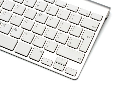 close button: Keyboard on a white background, close-up Stock Photo