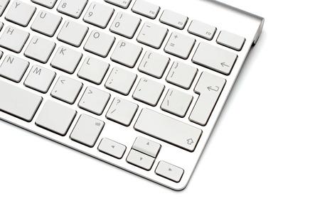 teclado de ordenador: Teclado sobre un fondo blanco, close-up Foto de archivo