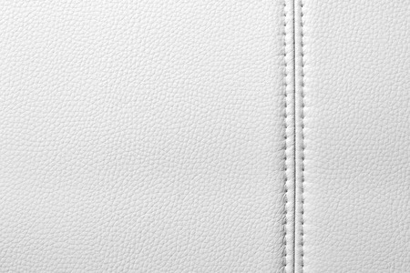 Texture of white leather, seam, close-up Reklamní fotografie - 33274490