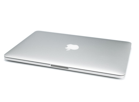 UFA, RUSSIA - OCTOBER 16 , 2014: Photo of a MacBook Pro. MacBook Pro Retina is a laptop developed by Apple Inc.