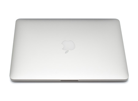 macbook pro: UFA, RUSSIA - OCTOBER 16 , 2014: Photo of a MacBook Pro. MacBook Pro Retina is a laptop developed by Apple Inc.