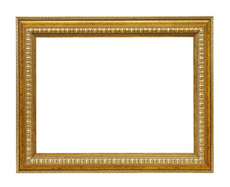 Old frame for a picture isolated