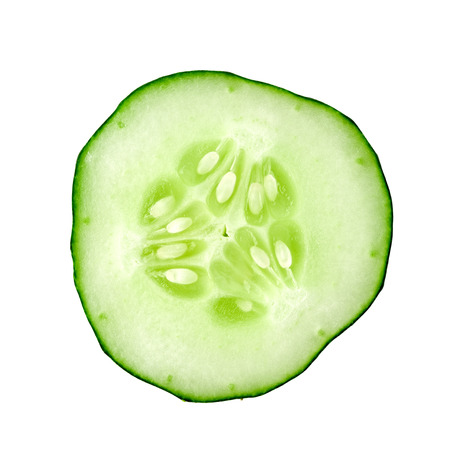 Green cucumber on a white background isolated