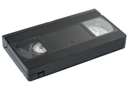 video cassette tape: Old VHS video cassette tape Stock Photo