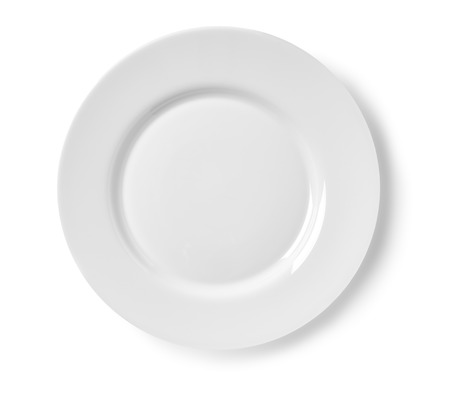 paper plates: Plate on white background isolated