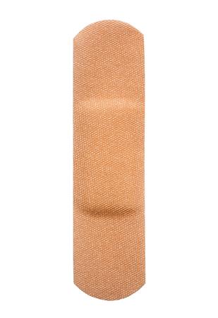 Single band aid, close-up isolated on white background