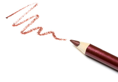 lip pencil: Cosmetic pencil, isolated on white Stock Photo