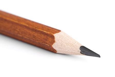흰색 배경에 연필 포인트 근접