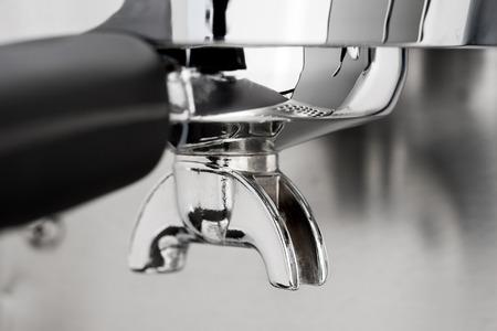 espresso machine: Espresso machine dispenser Stock Photo