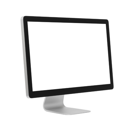 flat panel monitor: Computer monitor isolated on white