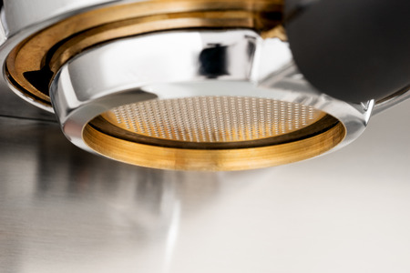 bottomless: Espresso coffee extraction with bottomless filter Stock Photo