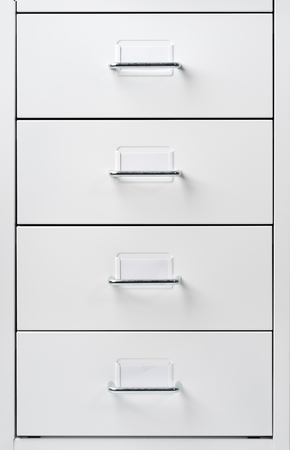 drawers: White Cabinet with drawers Stock Photo