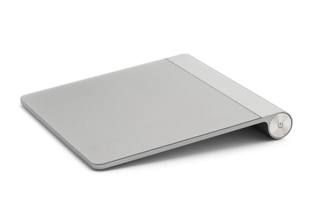 touchpad: Computer touchpad, isolated on white background