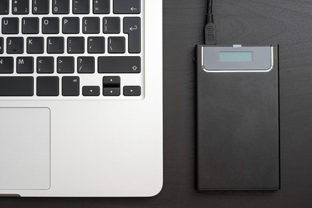 solid state drive: External hard disk over laptop keyboard